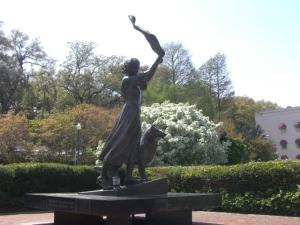 waving girl statue