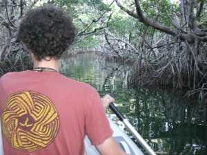 Benj in Mangrove Tunnel