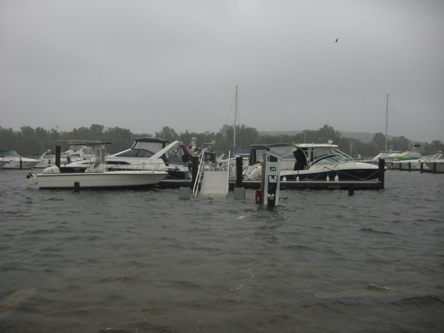 Dock flooded
