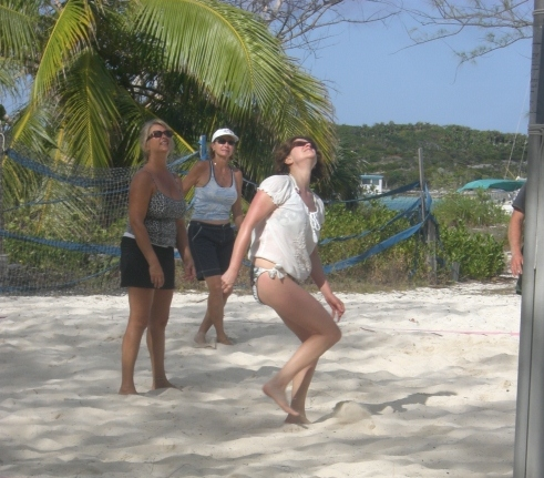 Doin' the volley ball dance