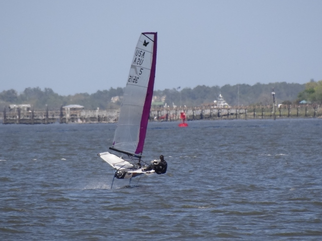 Flying on foils Cooper River, Charleston Harbor