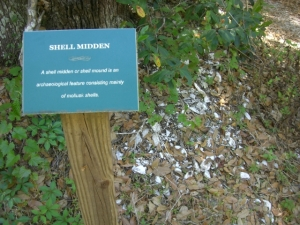 Native American shell mound