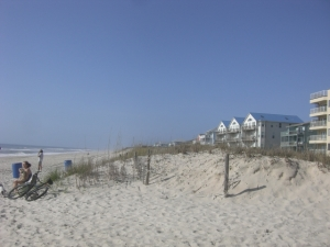 The beach! Carolina Beach, looking south.