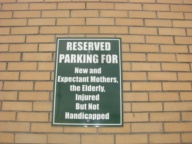 Parking space sign at Harris Teeter, Charleston, SC