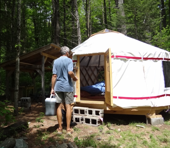 Home sweet yurt at the edge of the trees