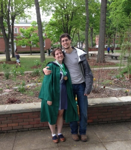 Happy grad Lily and Benj