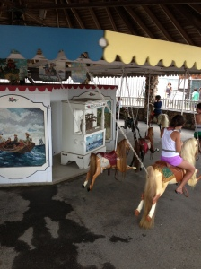 The unique flying horses merry-go-round