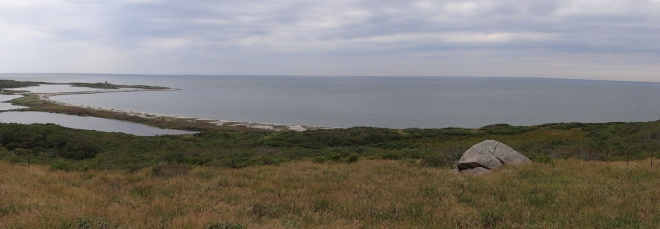 A view of Rhode Island Sound near the merge with Vineyard Sound and Buzzards Bay