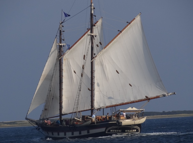 The Mystic Whaler spent a night and in the morning sailed off to Sag Harbor