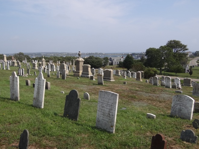 The island cemetery offers a lovely view