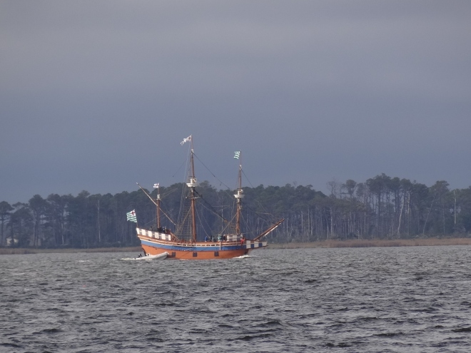 The Elizabeth II heads to Edenton from Manteo, NC