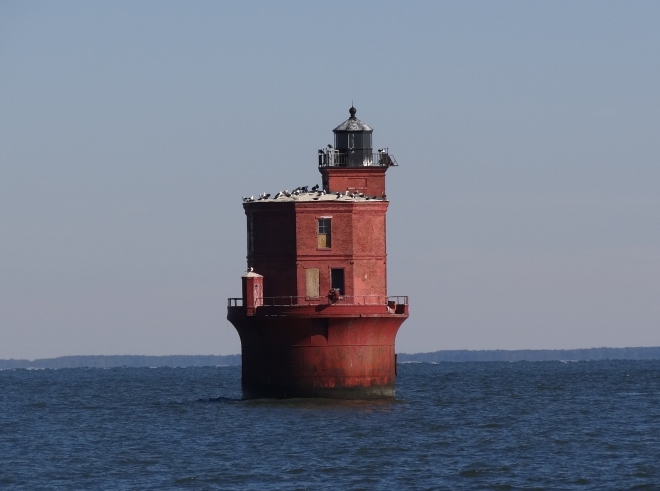 We passed by Wolf Trap Light near the end of our day