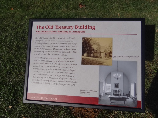 Info about the old treasury building
