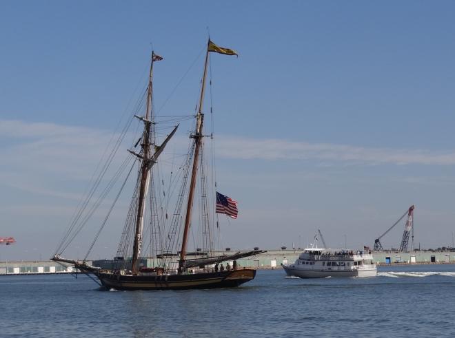 Pride of Baltimore II heads home after the schooner fest