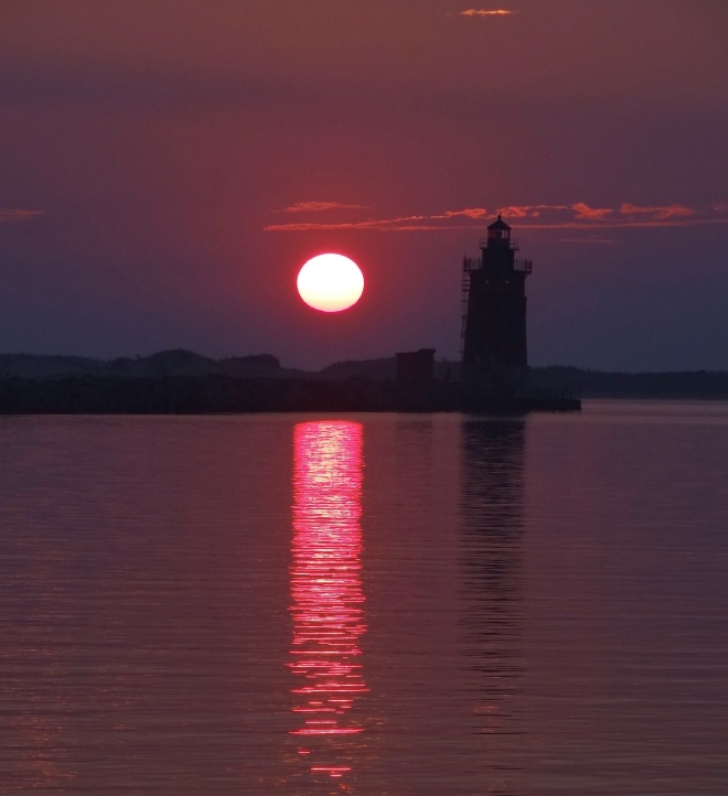 Sunrise at Breakwater Harbor