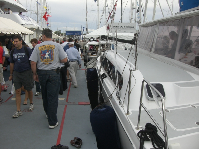 Our last boat show: Oct 2009, meeting MC for serious purchase discussions