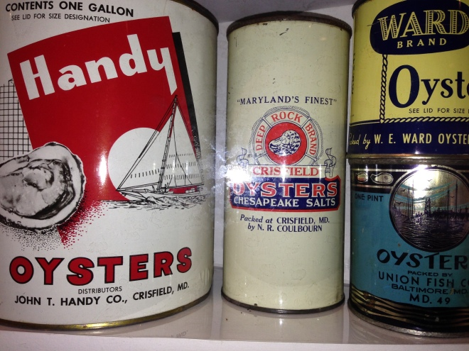 Canned oysters- a huge variety of labels to grab your attention