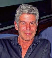 Anthony Bourdain- what may be a fairly recent photo