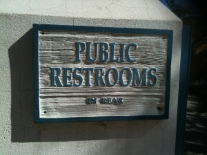 No shortage of restrooms in town