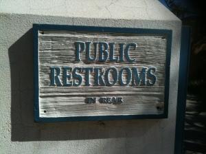No shortage of restrooms in town