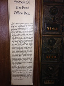 Interesting background on Post Office boxes- relatively unchanged for years