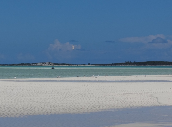 Looking toward Cave Cay. This is the white stuff we love!