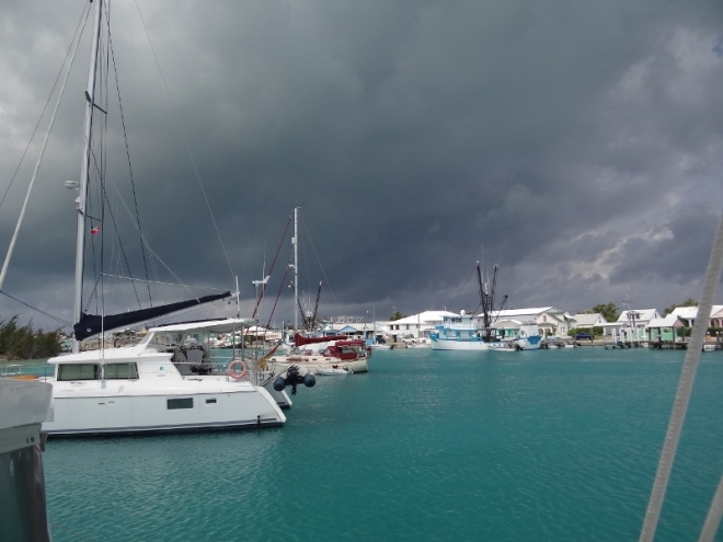Seven snug moorings are available at the far east end of St Georges Cay, where Charles Island provides great protection from the cold front's strong winds