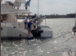 Someone messed up and the dinghy tumbled