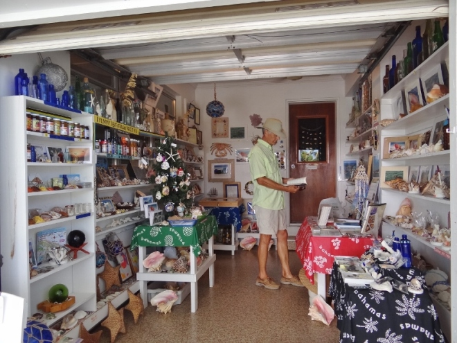 Many shops are part of the owner's home. This place sold local products, many handmade as well as beautiful shells brought up from the deep blue.