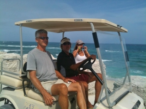 A photo-stop by the beach near The Abaco Inn
