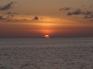 Sunset off West End, Grand Bahama Island