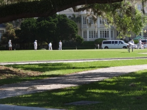 Croquet on the lawn of the Jekyll Island Club