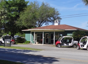Red Bug electric carts are available to rent at the Jekyll Island Airport