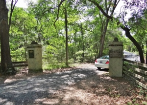 Entrance to Irvin-House and FIrefly. That's our rental car