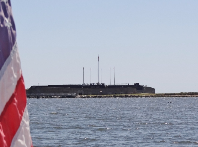 Fort Sumter... as we sneak up to anchor