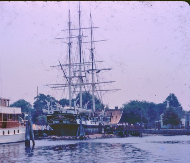Circa 1964, from Rackliffe family slides- the Morgan at Mystic Seaport