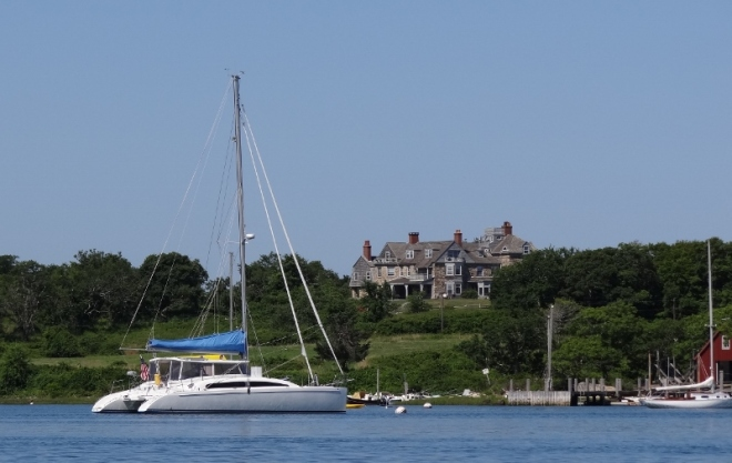 The main (summer) home on Naushon Island