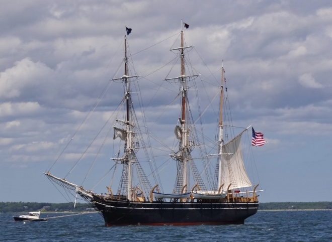 The Morgan in Buzzards Bay- showing the most sail we got to see