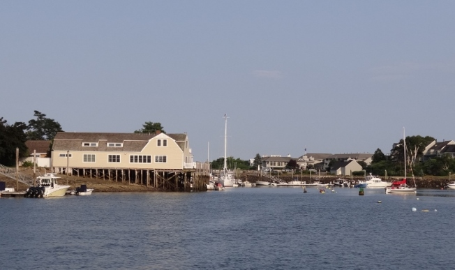 A portion of York harbor from our inner harbor mooring