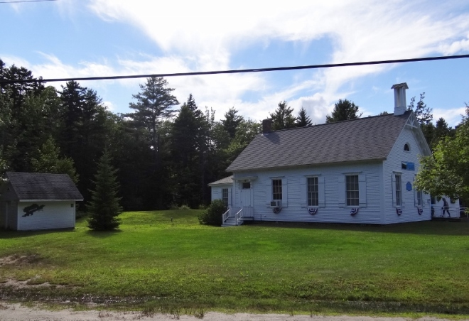 The old schoolhouse is now a museum with school and island history