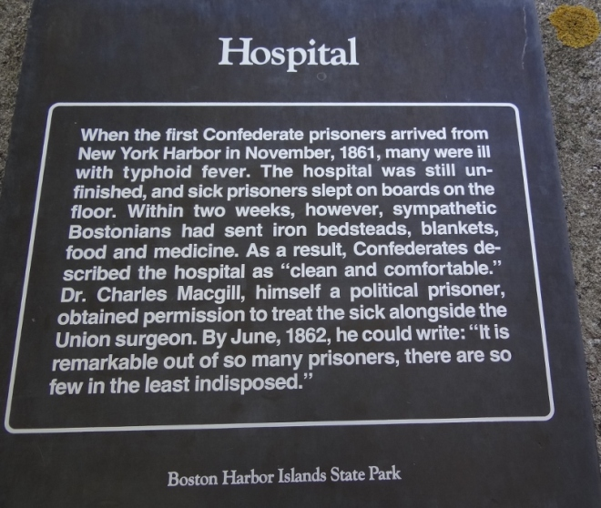 The fort's hospital received a favorable review.