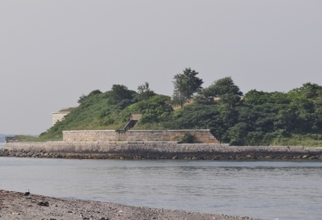 Looking at Georges and the fort from Fort Standish on Lovells