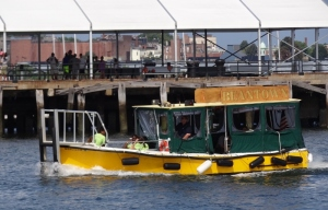 The more sedate Beantown water taxi