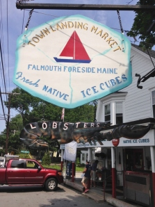 After anchoring we went over to Falmouth Foreside for lunch and lobsters to steam for dinner