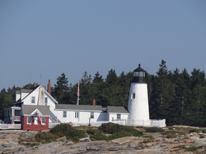 Pemaquid Point lighthouse as we rounded the point