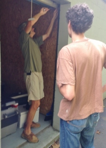 The door stuck so every time we had to take a hammer to it