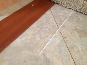 A slide test revealed a big problem- a log screw under the dinette seat