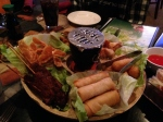 Dinner with David, Seth and Matt began with a Pu Pu platter