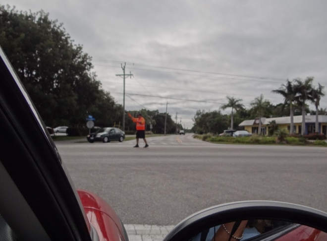 No traffic lights on Sanibel or Captiva, just a traffic cop by Jerrys Market and as you enter the island off the bridge