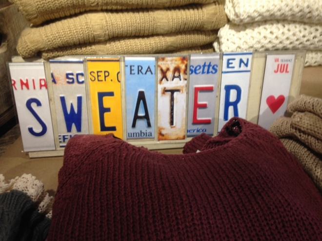 As if we needed reminding that sweaters would be needed here.